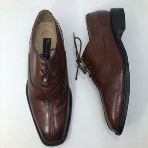 MENS Stacy Adams Comfort Plus Brown Dress Shoes